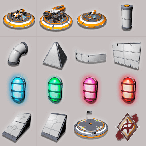Base building items grid