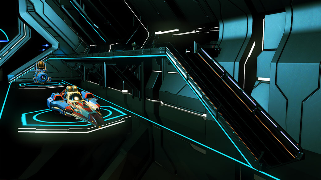 Screenshot of new space station ramps