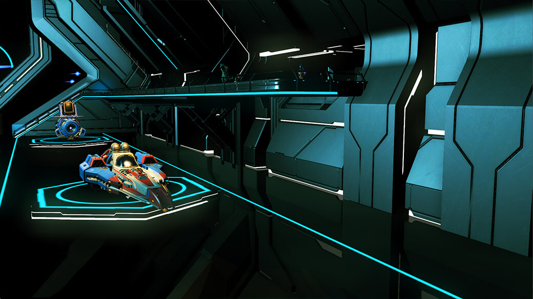 Screenshot of original space station ramps