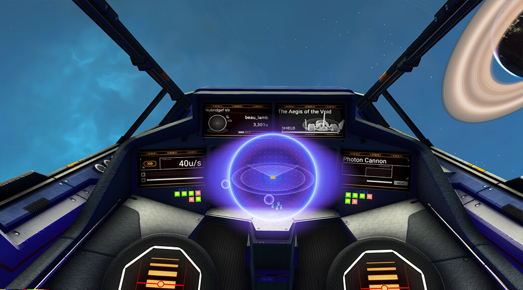 Screenshot of original starship